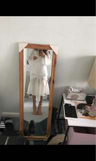 C/MEO COLLECTIVE evoke top and skirt in white