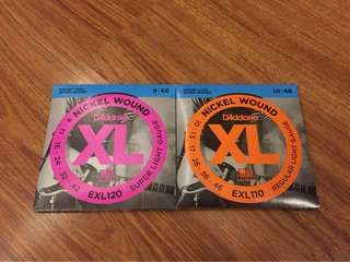 D'Addario XL Electric Guitar Strings 2 Sets