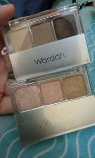 Wardah eyeshadow 80% 2pcs