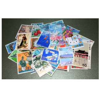 Japan Used Postage Stamps 30 Pieces Mixed Lot