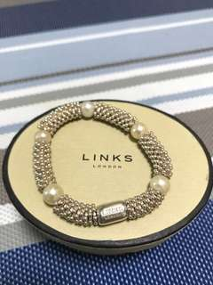 LINKS London silver and pearl bracelet