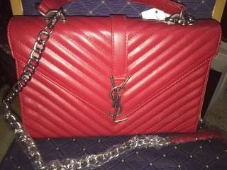 YSL ENVELOPE BAG (red & beige)
