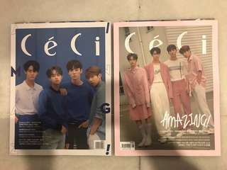Ceci June 2018 Issue WannaOne GOT7 Mark