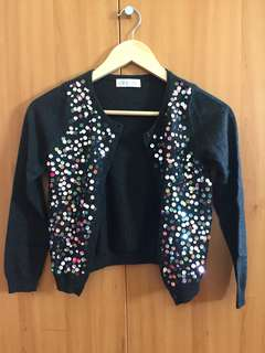 Black Sweater with Colorful Sequins