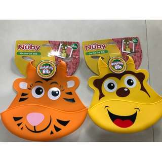 🚚 Brand New- Nuby On- The - Go Bib ( Monkey or Tiger)