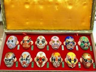 中國京劇面譜一套12款
