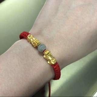 24k gold charm money catcher/genuine corals/sanlo for health