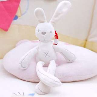 🚚 Instock - white bunny rattle, baby infant toddler girl children spring summer 2018 collection