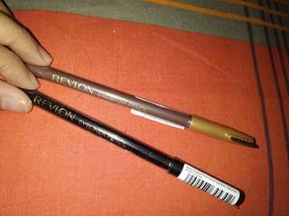 Paket duet Eyeliner pencil black + eyebrow pencil dark brown