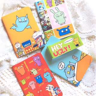 [Sold - Set of 4] Hey Ugly! - Set of 4 Ugly Dolls Notebooks.