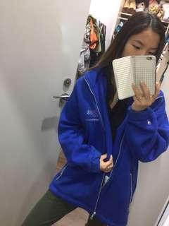 Vintage BMW sports racing unisex comfy fleece blue jacket