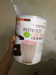 Beetroot oat milk