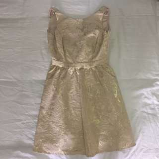 🚚 New Look Party Dress (Light Gold)