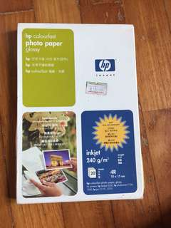 HP colourfast photo paper (glossy)