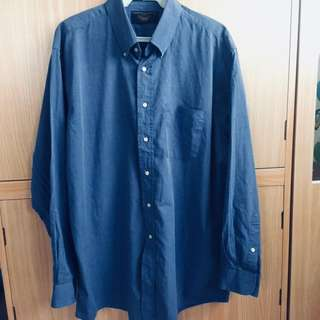 Blue Longsleeves Polo
