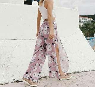 Printed Floral Wide Leg Pant