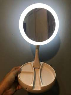 LED ring light mirror