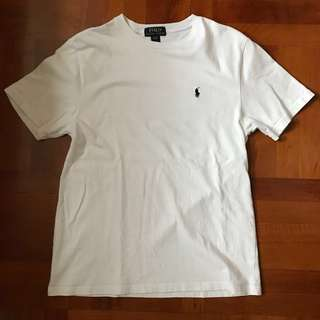 POLO RALPH LAUREN crew neck tee white