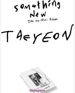 Taeyeon 3rd Mini Album - ' Something New '