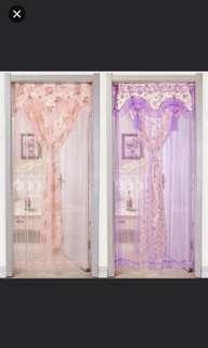 (2套/2sets) 門簾布藝布簾風水簾套裝 (包棍) (90cm寬220cm高) (homeone系列) (家居系列) (包Buyup自取站取貨) (#rep#) (door curtain with rod set)