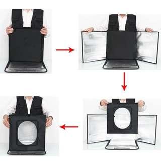 🚚 Product Light Tent + 2 Led Panel (Brightness Adjustable) + 5 Colour PVC Background