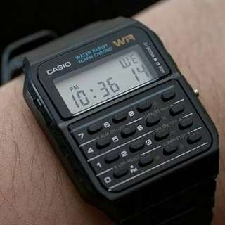 jam tangan casio watch calculator