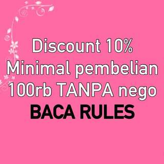DISCOUNT 10% BACA RULES