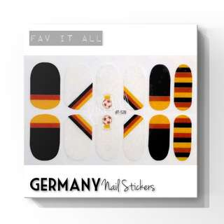 世界盃指甲貼 德國 World Cup Nail Stickers - Germany
