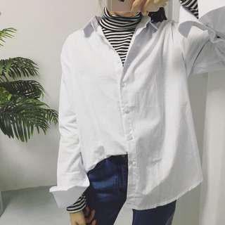 plain white blouse / outerwear