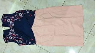 2 piece crop top and high waist pencil skirt.. bahan baguss blm pnh pake sm skali.. ex kado