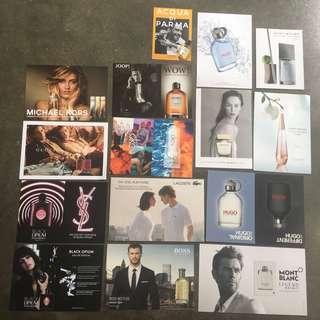 🆓Postage!! 🆕15pcs Perfume Cards