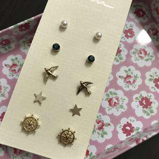 Ear Studs And Bracelets