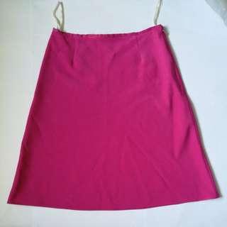 Fuschia Pink A-line Skirt