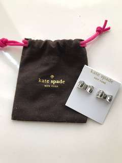 Kate Spade Silvery Earrings 蝴蝶結耳環(New 全新)
