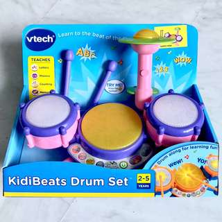 (In-Stock) VTech KidiBeats Drum Set, Exclusive Color - Pink (Brand New)
