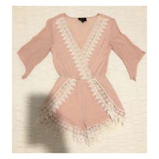 Size XS | Pink Boho Playsuit