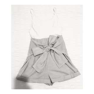 Size 6 | White & Grey Playsuit