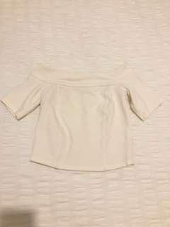 Size 6 | Bardot White Off Shoulder Top