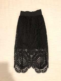 Size 6 | Black Lace Skirt