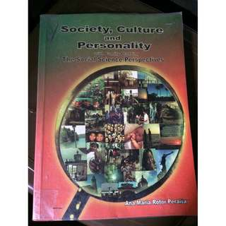 Society, Culture and Personality Textbook