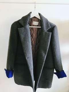 🚚 韓國買回 超厚鋪棉保暖西裝外套