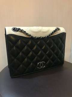 chanel medium sling two color seri 21 bag and holo only 24.5jt *vj