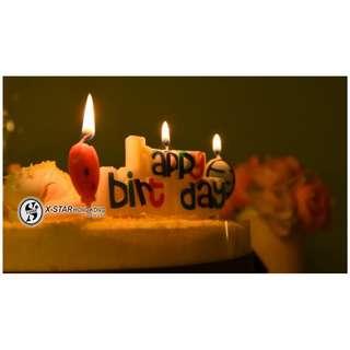 S138485 英文字母生日快樂蠟燭HAPPY BIRTHDAY 四個氣球創意蠟燭套 (包郵) candle