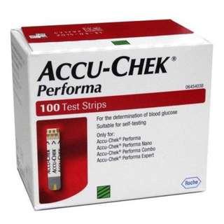 Accu Chek Performa Glucose Test Strips Exp Sep 2019