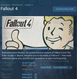 🚚 Fallout 4 Steam CD Key