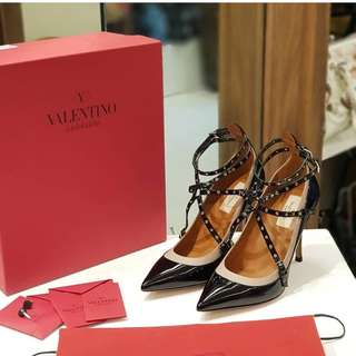 Valentino High s38 1/2 (25cm) ❤️MARK DOWN SALE P28k ONLY❤️ Used once only. Good as brand new With box cards dustbag Swipe for detailed pics  Cash/card/layaway accepted