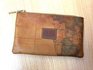 [100% Authentic, 80% New] Alviero Martini Classes Pencil Case 地圖筆袋