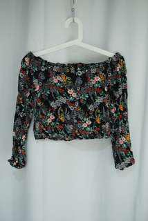 Floral Off Shoulder Top size 6/8