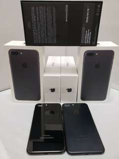 😍 iPhone7+ 128GB $4500  black & jetblack free request Apple id  free headset Bluetooth and case  warranty 1years