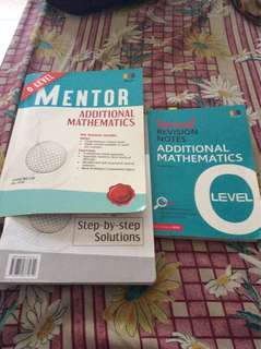 (2 for $5)O'level Additional Math Assessment Books